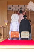 神楽殿-神前結婚式1